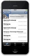Screenshot akkurat24 Service Tracking App für iPhone