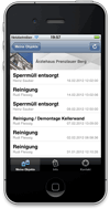 Screenshot akkurat24 Service Tracking App für iPhone